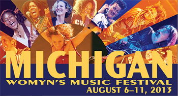Thumbnail link image: Michigan Women's Music Festival, 2013