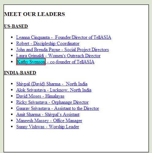 2010: TellASIA founding members