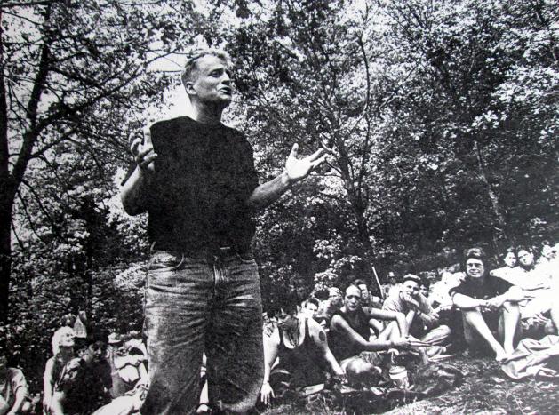 Leslie Feinberg speaking at Camp Trans