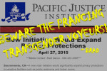 Referencing the Pacific Justice Institute's Brad Dacus quote regarding prancing transgender voyeurs