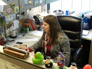 Image: Judy Chiasson at her LAUSD Office