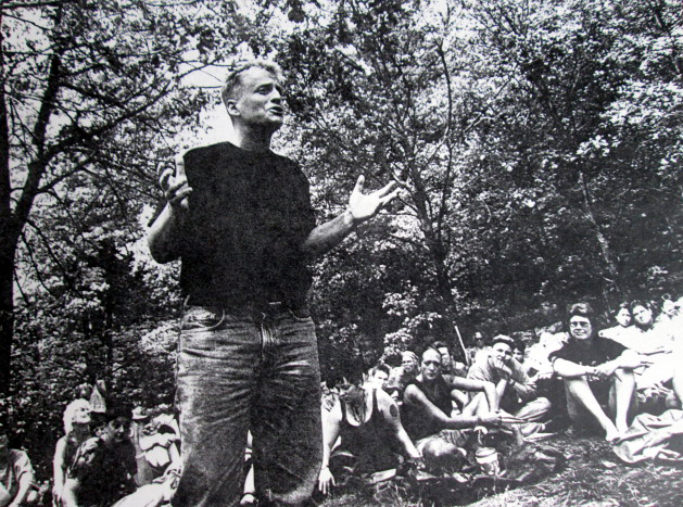 Leslie Feinberg speaking at Camp Trans