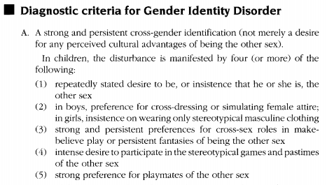 Sexual identity disorder